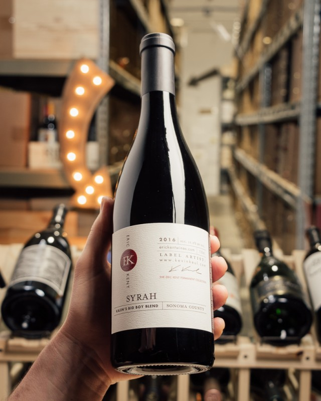 Eric Kent Syrah Kalen's Big Boy Blend 2016  - First Bottle