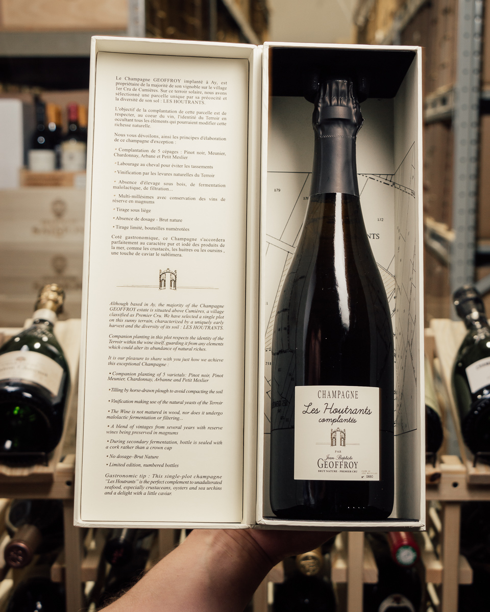 Geoffroy Brut Nature Les Hountrants Complantes 1er Cru NV  - First Bottle