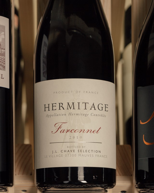 Jean-Louis Chave Selection Hermitage Farconnet 2010  - First Bottle