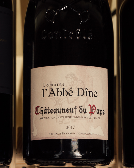 L'Abbe Dine Chateauneuf du Pape Rouge 2017 (Magnum 1.5L) Wine Stained Label