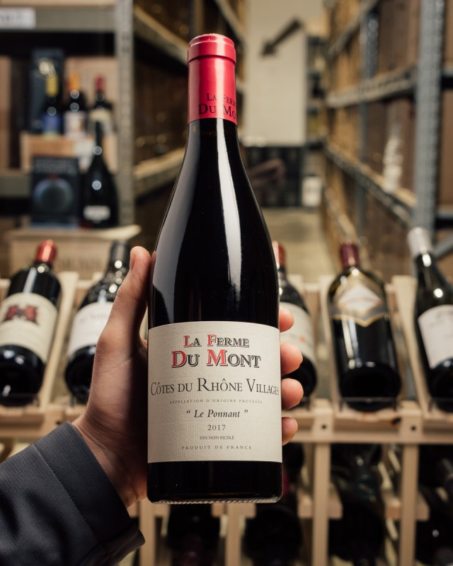 La Ferme du Mont Cotes du Rhone Villages Le Ponnant Rouge 2017  - First Bottle