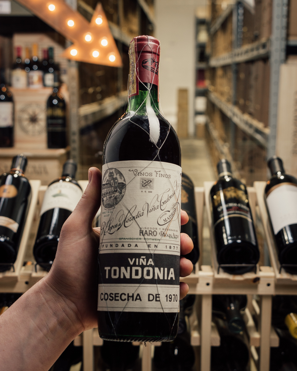 Lopez Heredia Rioja Gran Reserva Vina Tondonia 1970  - First Bottle