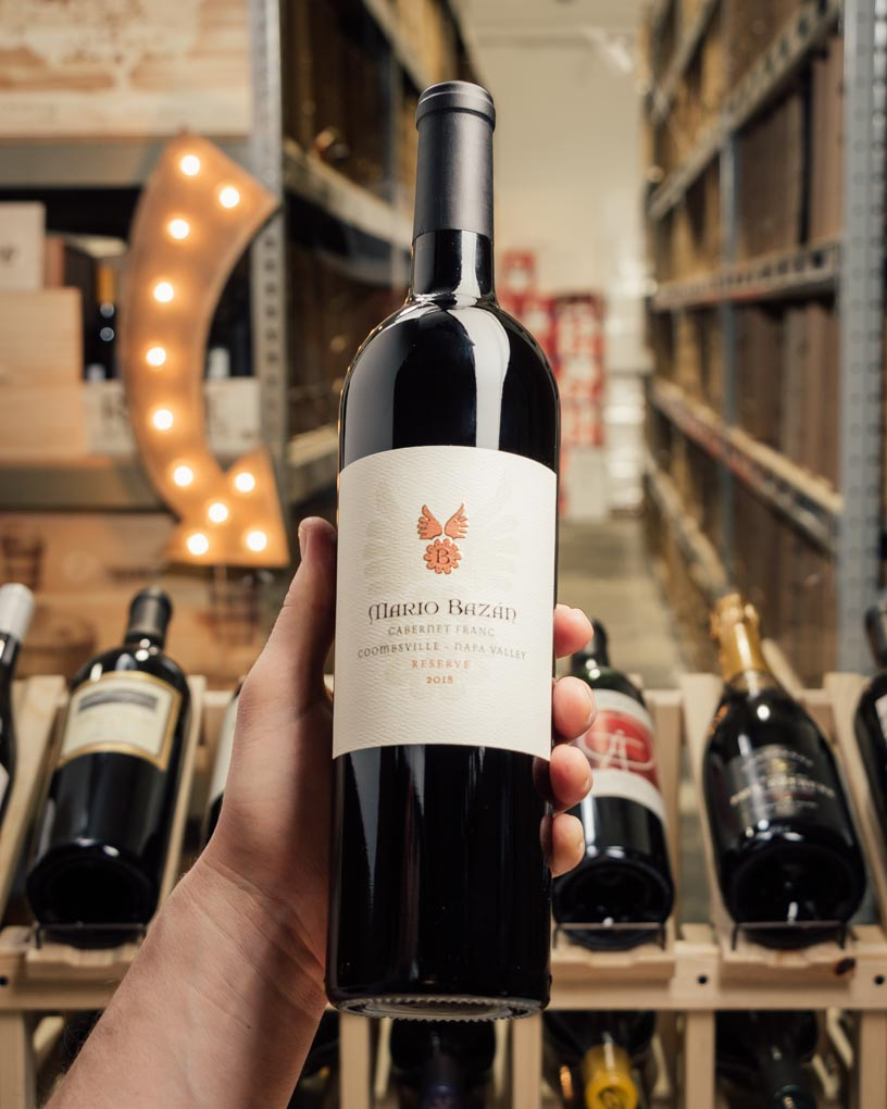 Mario Bazan Cabernet Franc Reserve Coombsville 2018  - First Bottle