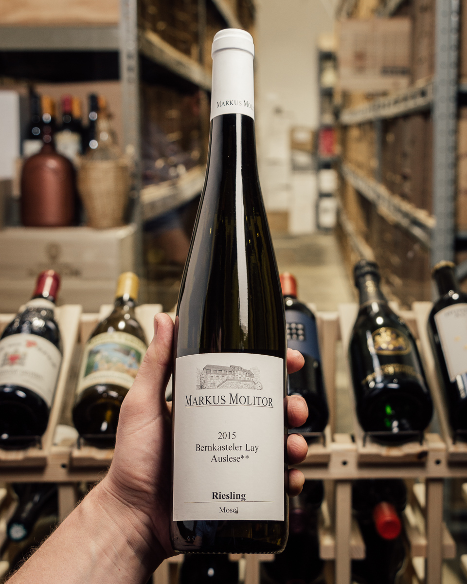 Markus Molitor Bernkasteler Lay Riesling Auslese** White Capsule 2015  - First Bottle