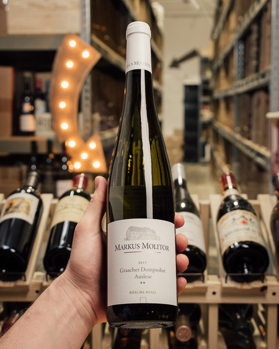 Markus Molitor Graacher Domprobst Riesling Auslese ** White Capsule 2017  - First Bottle