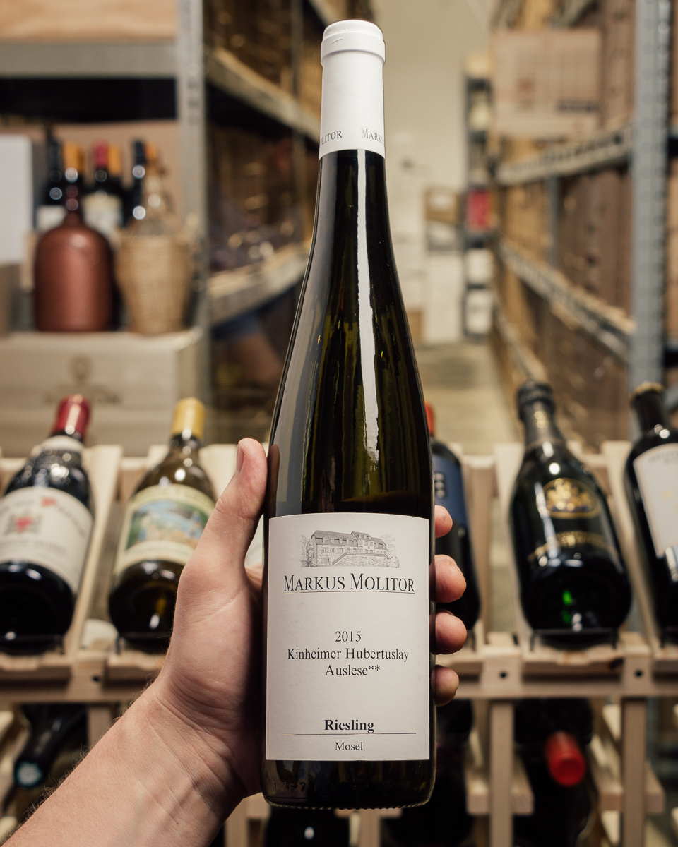 Markus Molitor Riesling Kinheimer Hubertsuslay Auslese** White Capsule 2015  - First Bottle