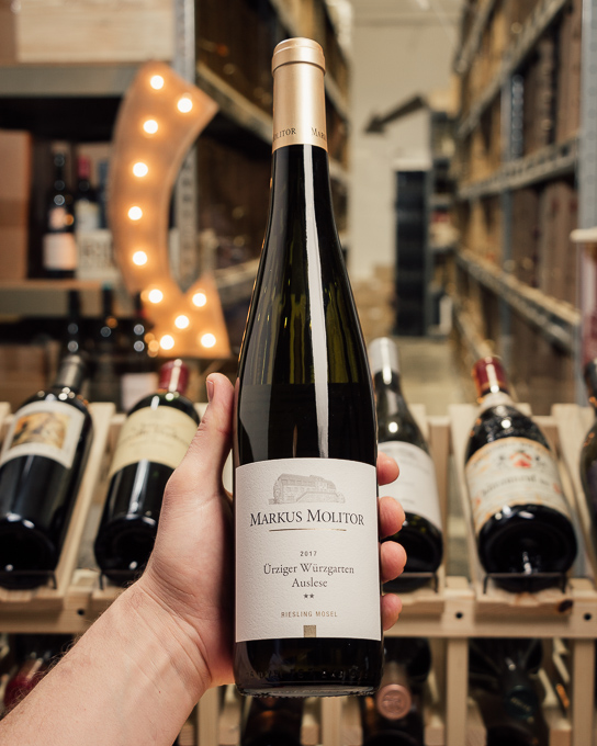 Markus Molitor Urziger Wurzgarten Riesling Auslese ** Gold Capsule 2017  - First Bottle