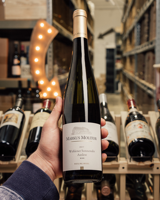 Markus Molitor Wehlener Sonnenuhr Riesling Auslese *** Gold Capsule 2017  - First Bottle