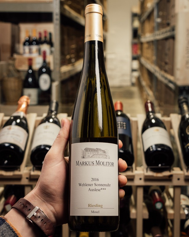 Markus Molitor Riesling Wehlener Sonnenuhr Auslese*** Gold Capsule 2016  - First Bottle