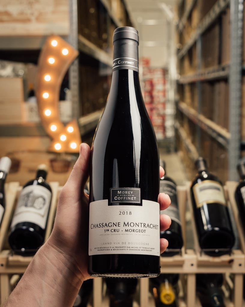 Morey-Coffinet Chassagne-Montrachet Rouge 1er Cru Morgeot 2018  - First Bottle