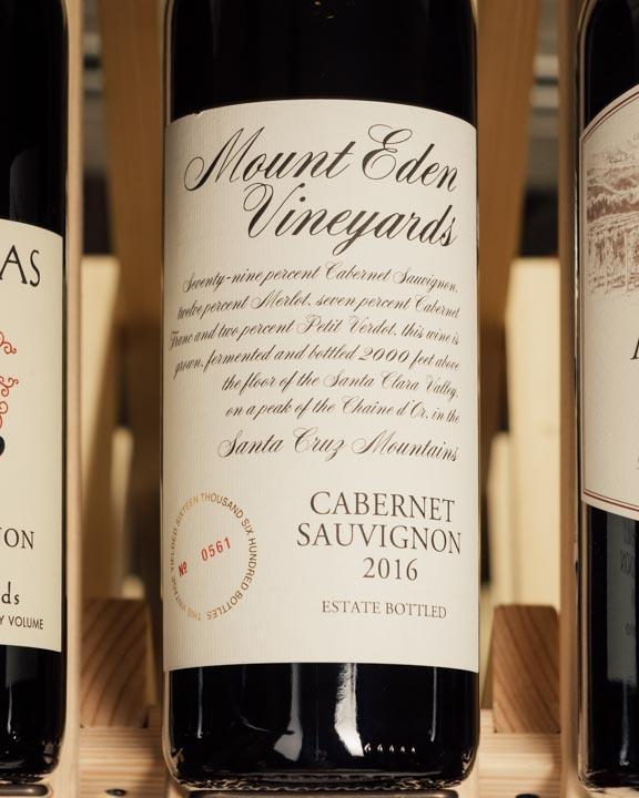 Mount Eden Cabernet Sauvignon Santa Cruz Mountains 2016