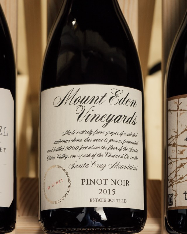 Mount Eden Pinot Noir Estate Santa Cruz Mountains 2015