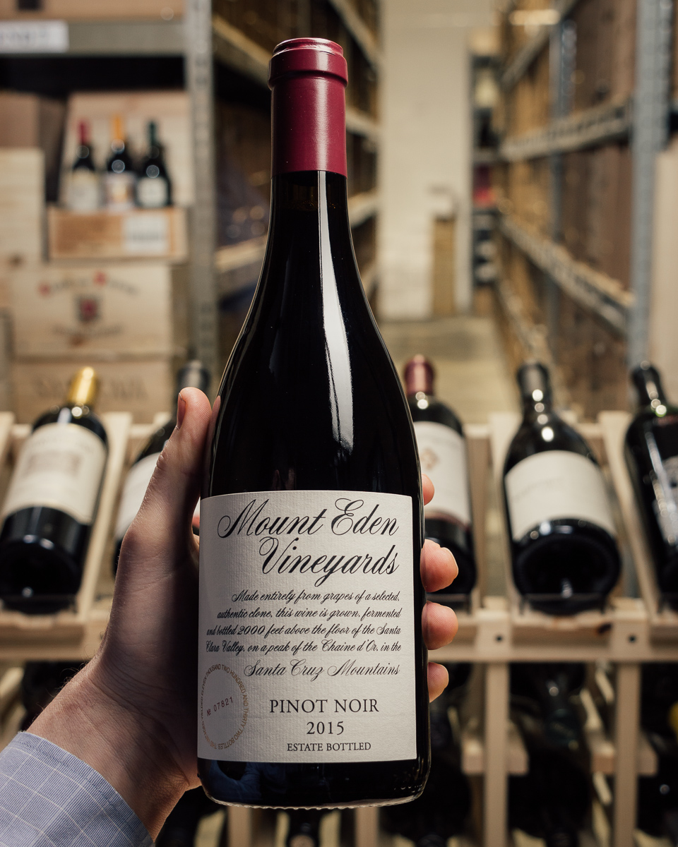 Mount Eden Pinot Noir Estate Santa Cruz Mountains 2015  - First Bottle