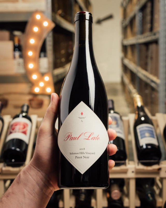 Paul Lato Pinot Noir Suerte Solomon Hills Vineyard 2018  - First Bottle