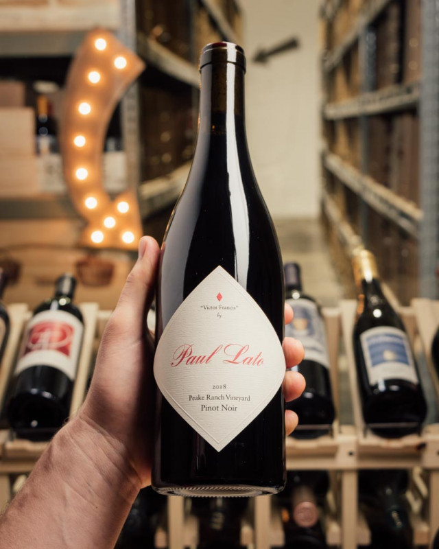 Paul Lato Pinot Noir Victor Francis Peake Ranch Vineyard 2018  - First Bottle