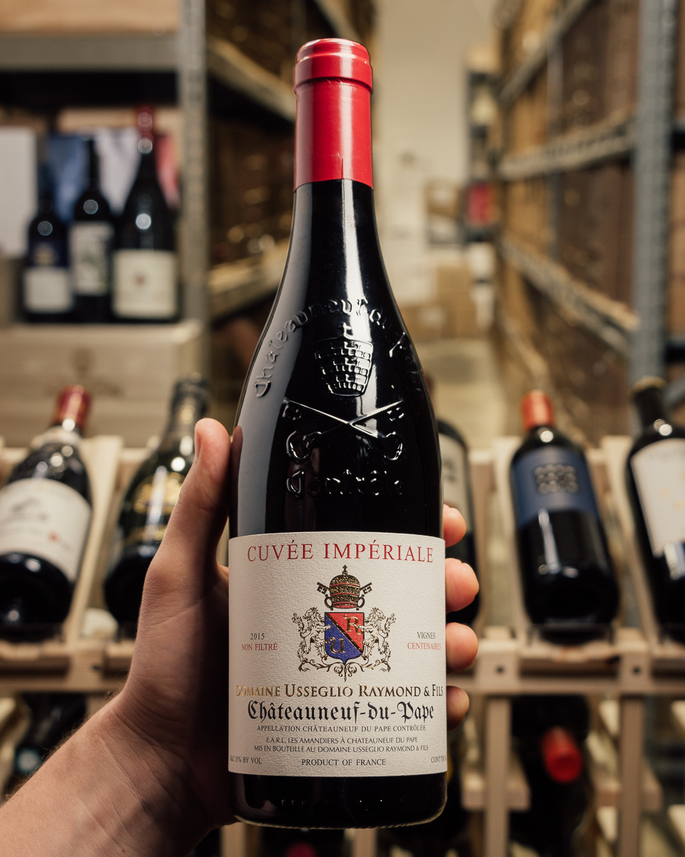 Raymond Usseglio Chateauneuf du Pape Cuvee Imperiale 2015  - First Bottle