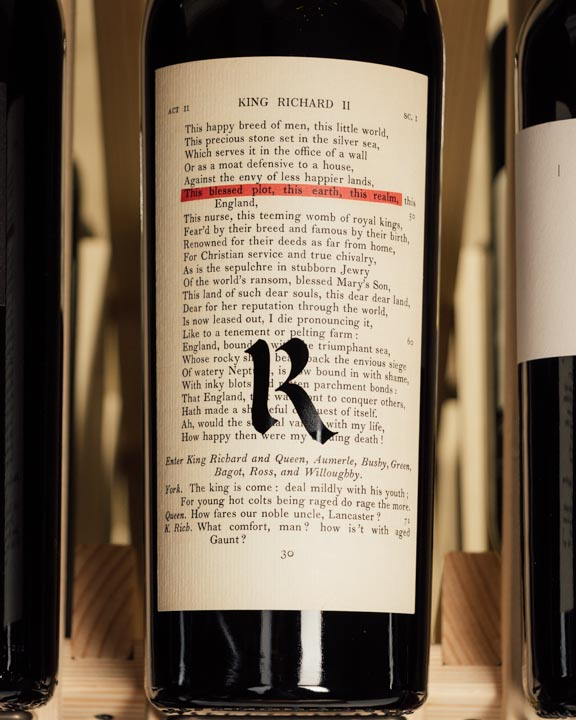 Realm Estate The Bard Red Napa Valley 2017