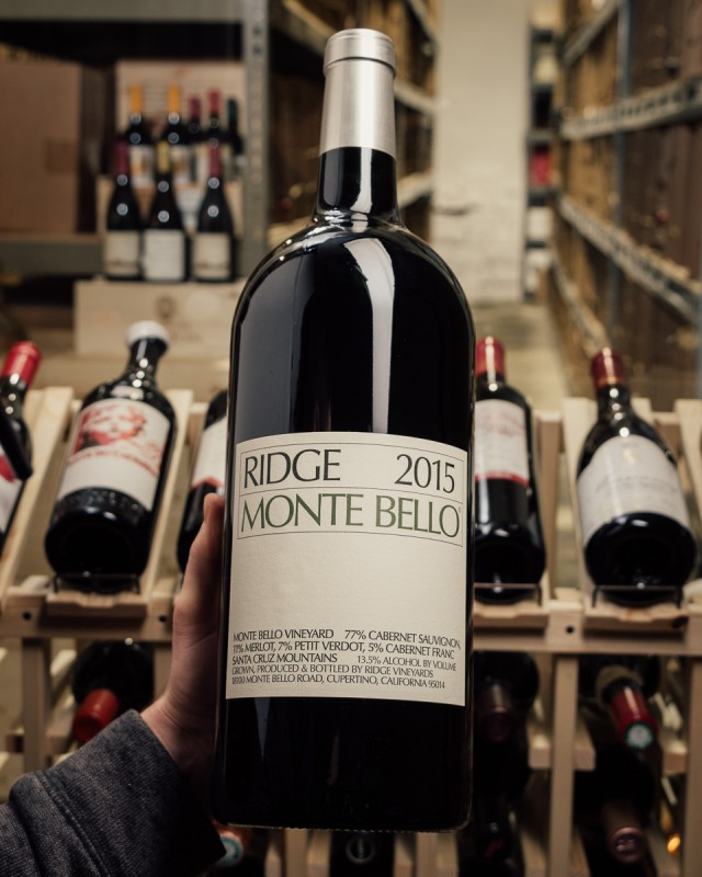 Ridge Cabernet Sauvignon Monte Bello 2015 (Double Magnum 3L)  - First Bottle