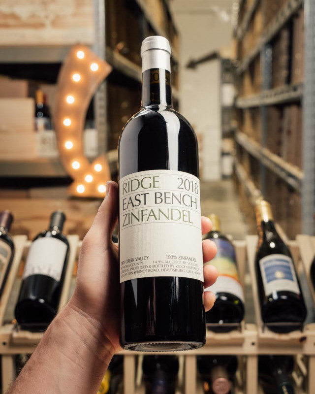 Ridge East Bench Zinfandel Dry Creek Valley 2018  - First Bottle