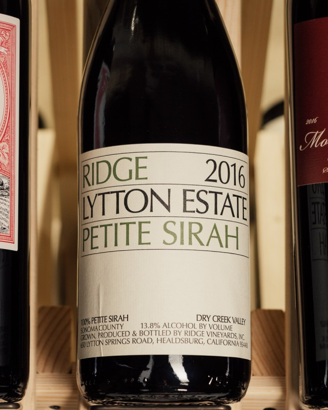 Ridge Petite Sirah Lytton Springs 2016