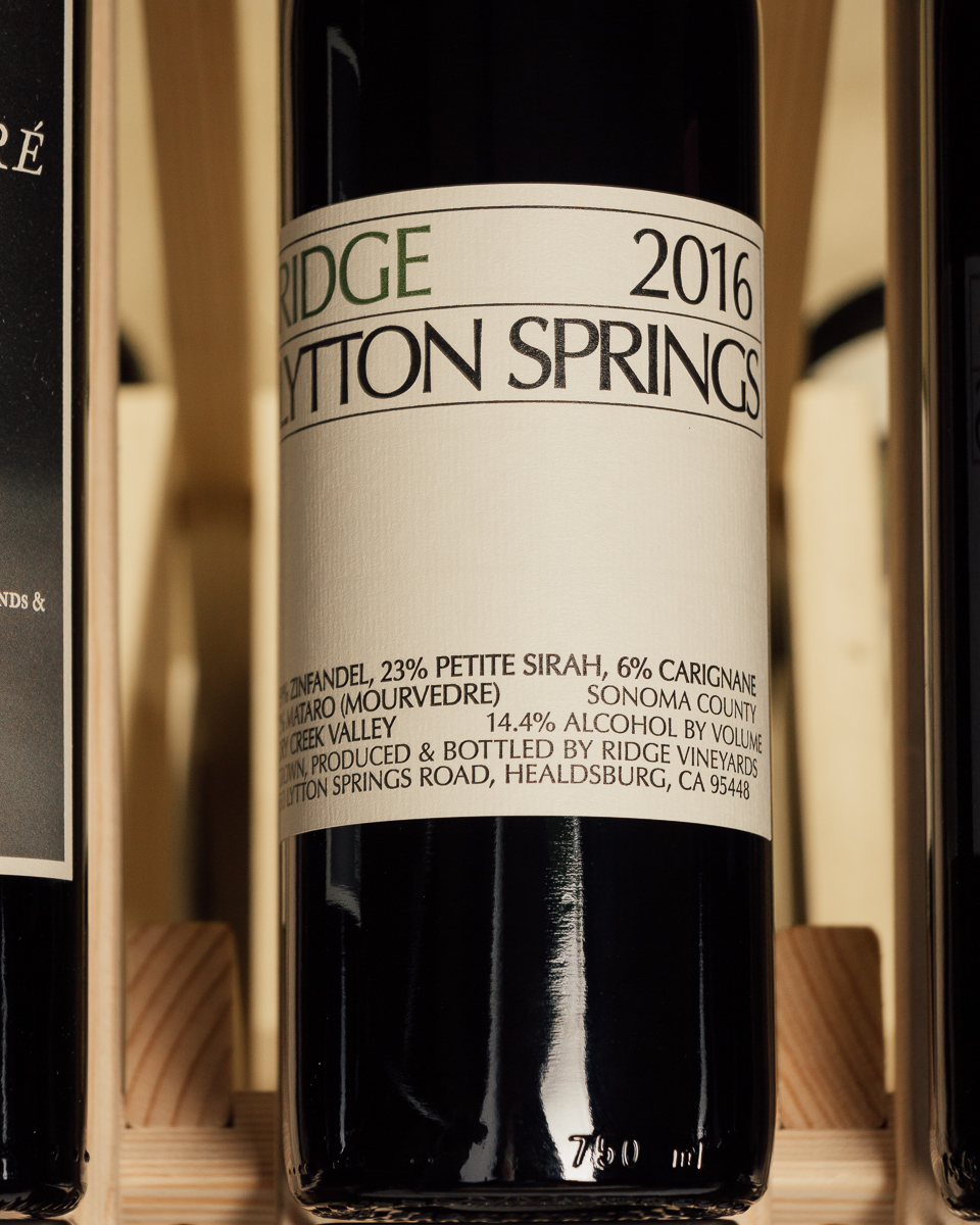 Ridge Proprietary Red Lytton Springs Dry Creek Valley 2016  - First Bottle