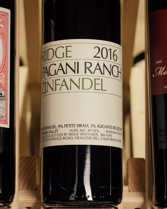 Ridge Zinfandel Pagani Ranch 2016