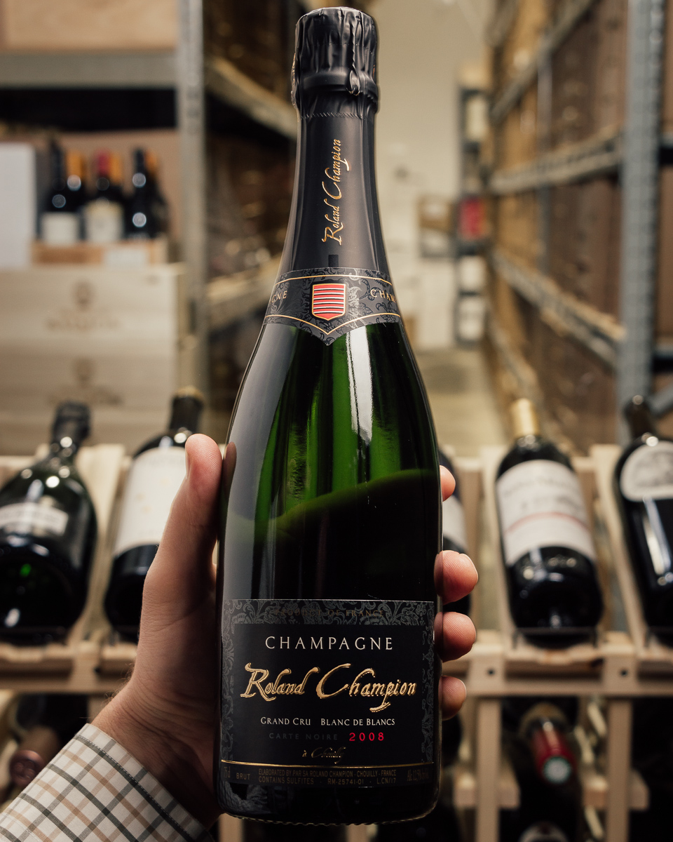 Roland Champion Carte Noire Blanc de Blancs Brut Grand Cru 2008  - First Bottle