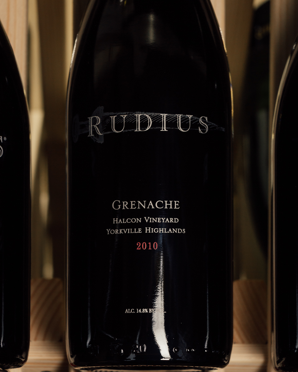 Rudius Grenache Halcon Vineyard Yorkville Highlands 2010  - First Bottle