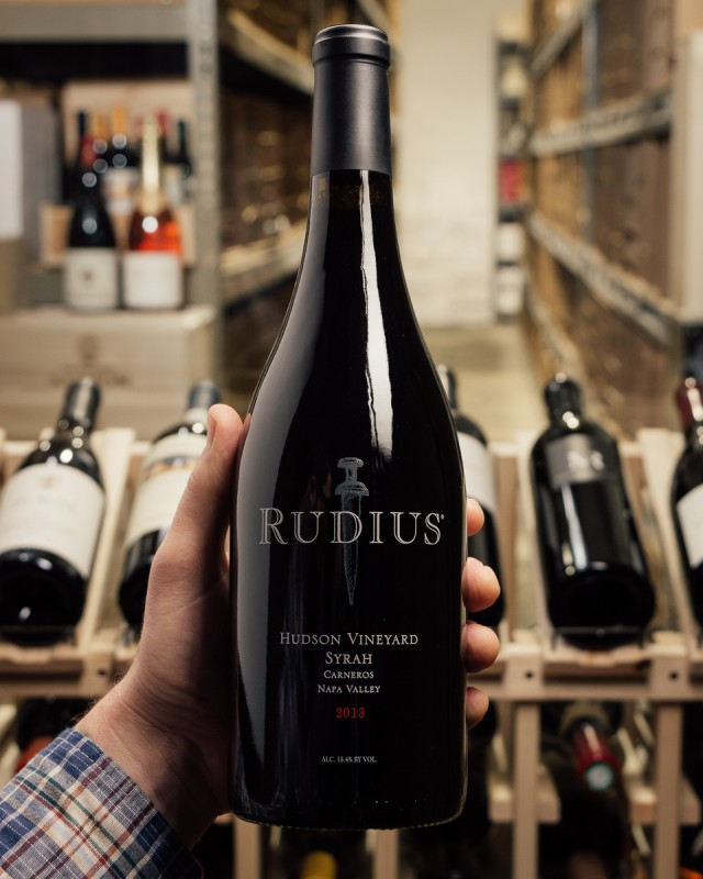 Rudius Syrah Hudson Vineyard 2013  - First Bottle