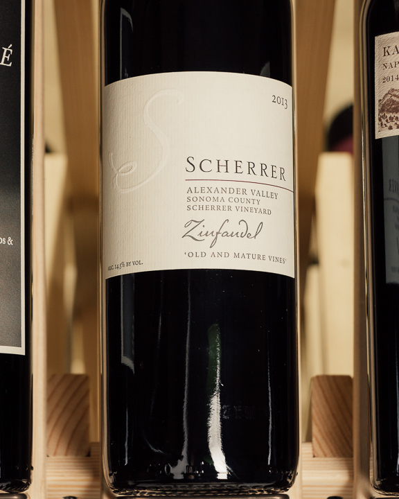 Scherrer Zinfandel Old and Mature Vines Scherrer Vineyard 2013  - First Bottle