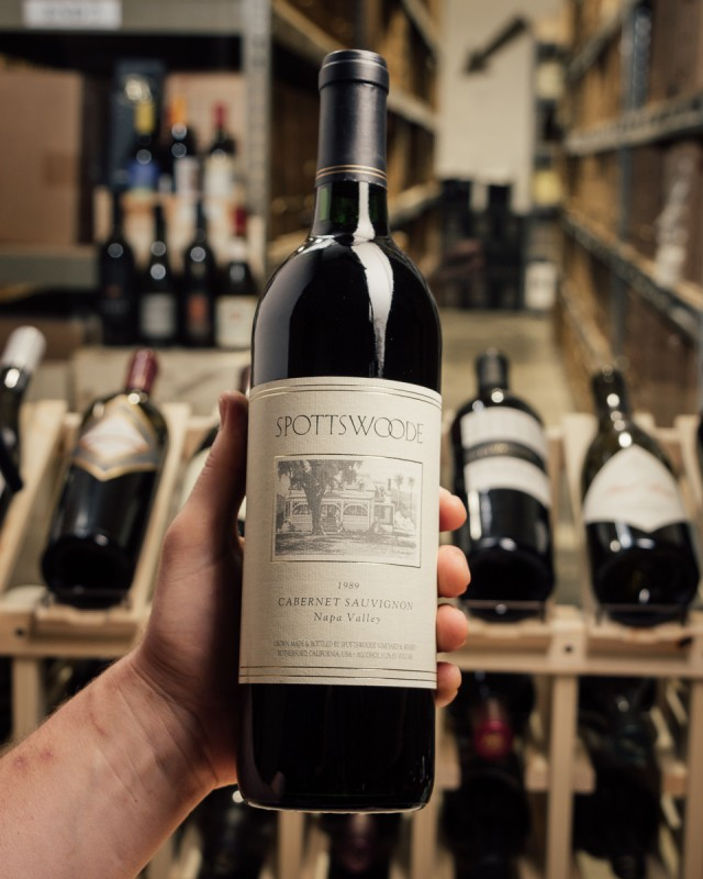 Spottswoode Cabernet Sauvignon Napa Valley 1989  - First Bottle