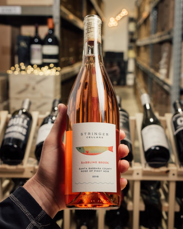 Stringer Cellars Rose Babbling Brook Santa Barbara 2018  - First Bottle
