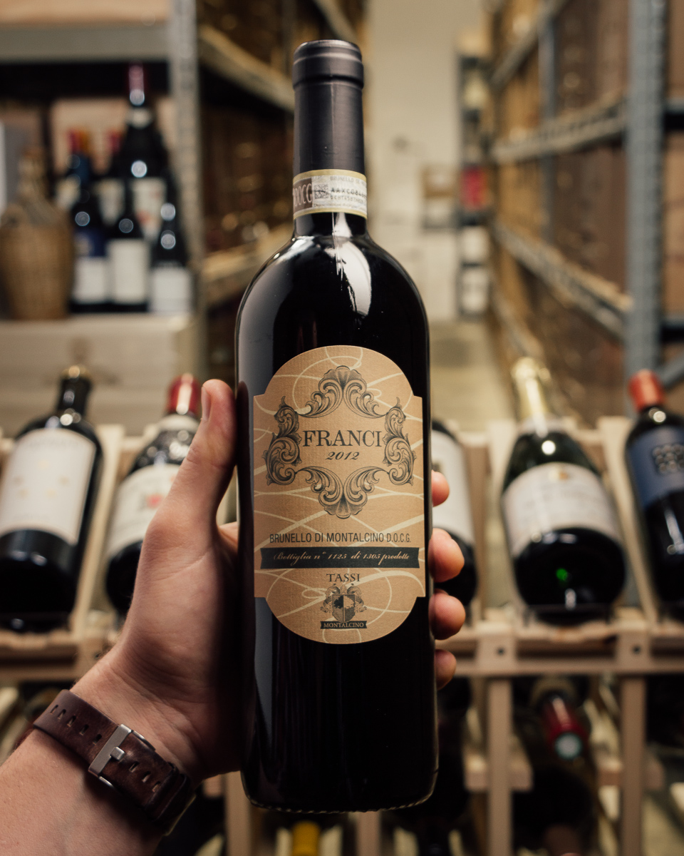 Tassi Brunello di Montalcino Franci 2012  - First Bottle