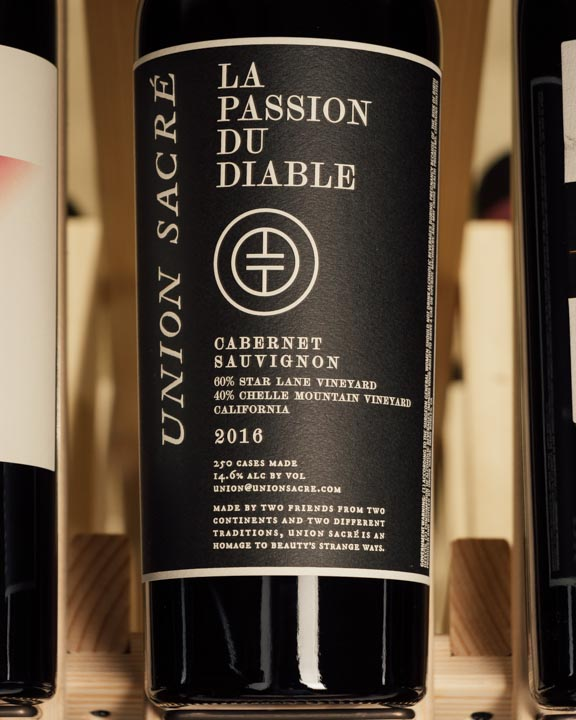 Union Sacre Cabernet Sauvignon La Passion du Diable 2016  - First Bottle
