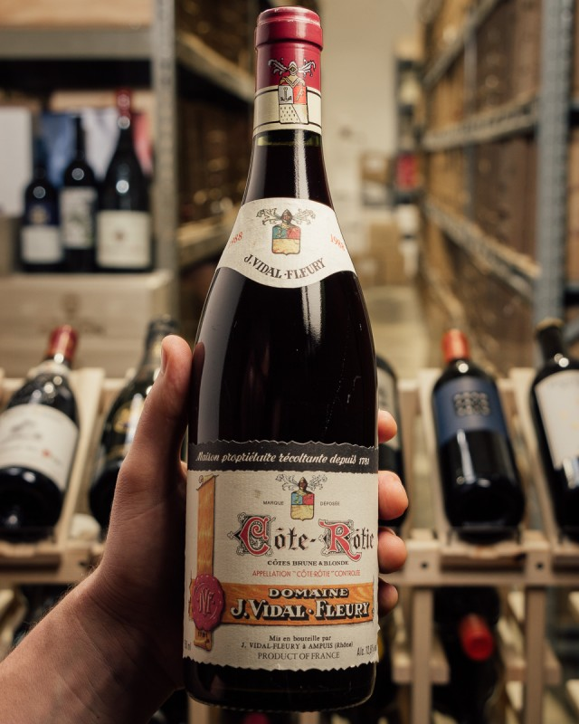 Vidal Fleury Cote Rotie Brune et Blonde 1988  - First Bottle
