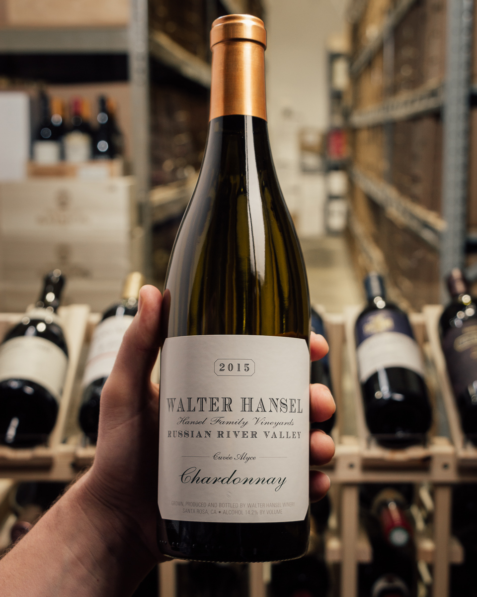 Walter Hansel Winery Chardonnay Cuvee Alyce 2015  - First Bottle