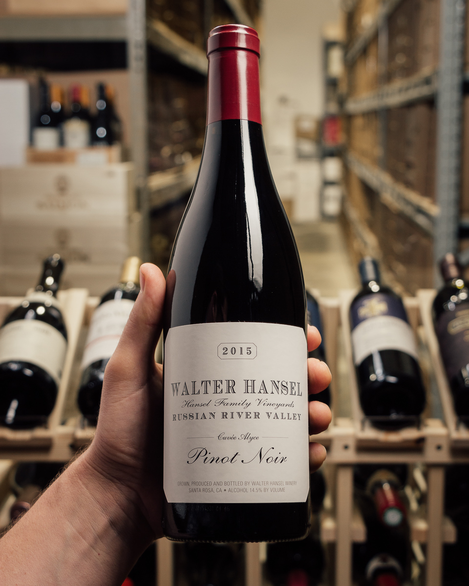 Walter Hansel Winery Pinot Noir Cuvee Alyce 2015  - First Bottle