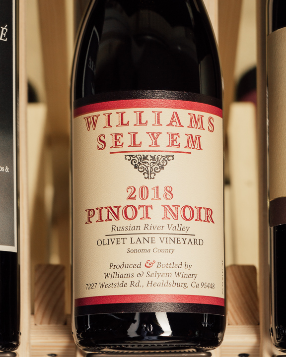 Williams Selyem Pinot Noir Olivet lane Russian River 2018