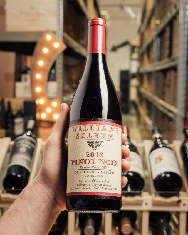 Williams Selyem Pinot Noir Olivet lane Russian River 2018  - First Bottle