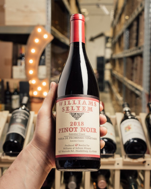 Williams Selyem Pinot Noir Terra De Promissio Vyd Sonoma Coast 2018  - First Bottle