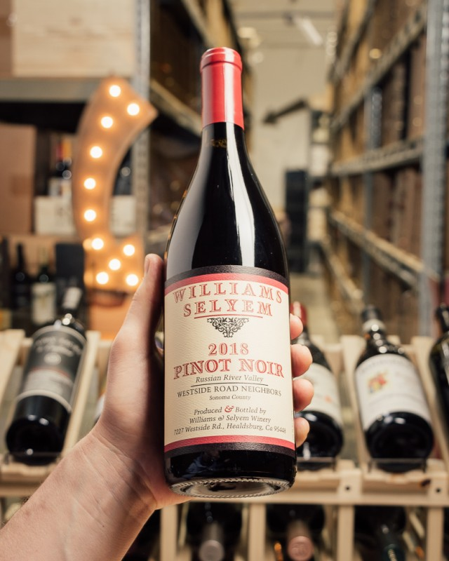 Williams Selyem Pinot Noir Westside Road Neighbors Russian River 2018  - First Bottle