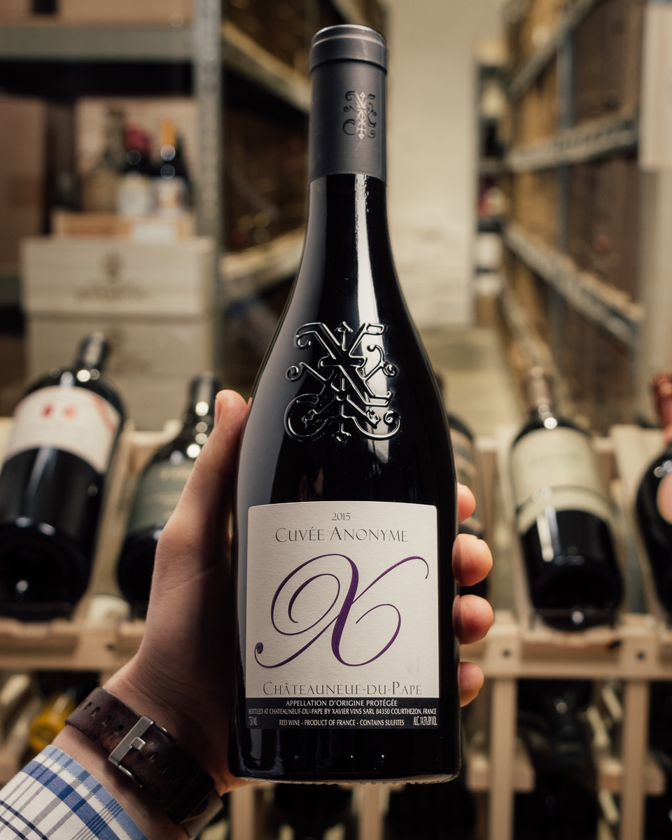 Xavier Vignon Chateauneuf du Pape Cuvee Anonyme 2015  - First Bottle
