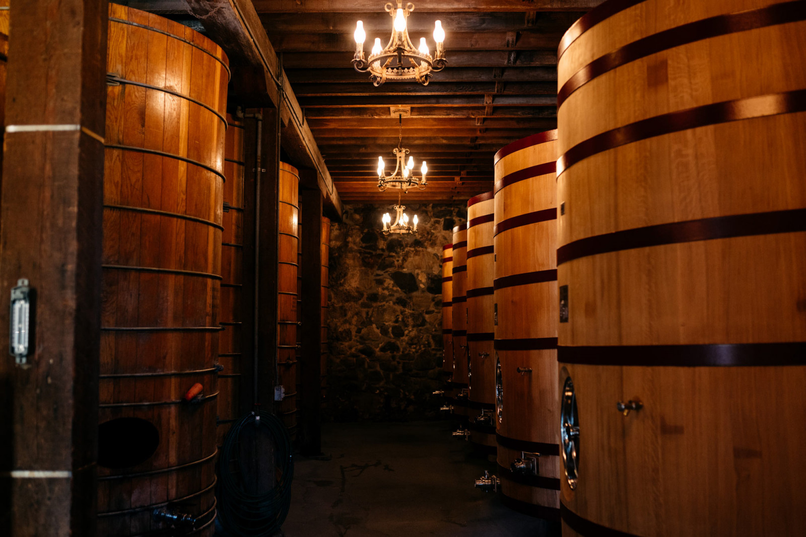 https:American oak tanks for first-year aging