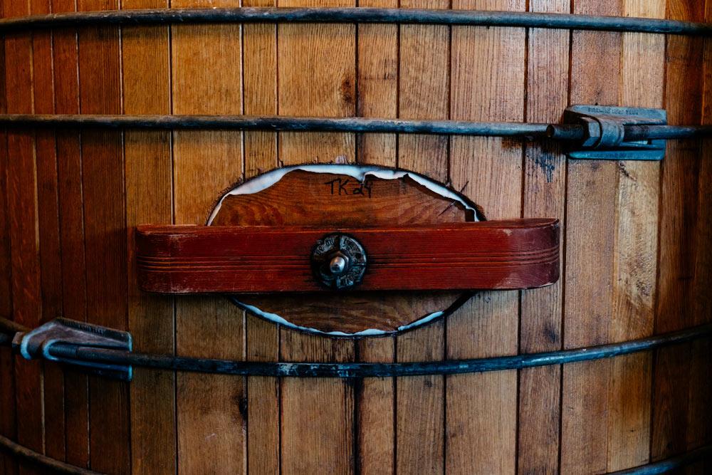 https:Zoomed-in view of the door to an Oak Tank