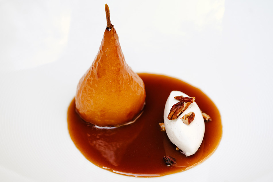 Delice Caramel Poached Pear