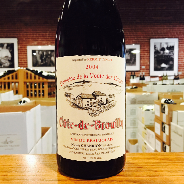 2004 Côte-de-Brouilly Nicole Chanrion - Kermit Lynch Wine Merchant