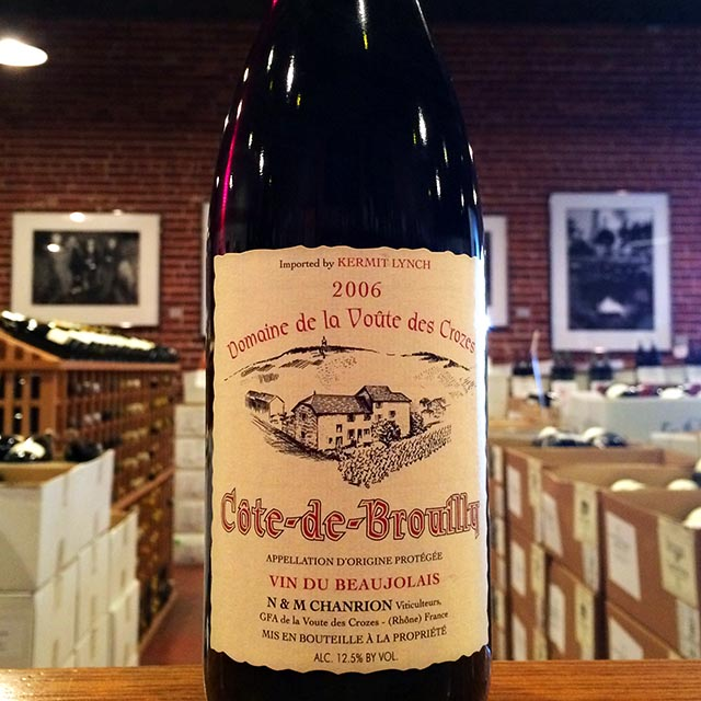 2006 Côte-de-Brouilly Nicole Chanrion - Kermit Lynch Wine Merchant