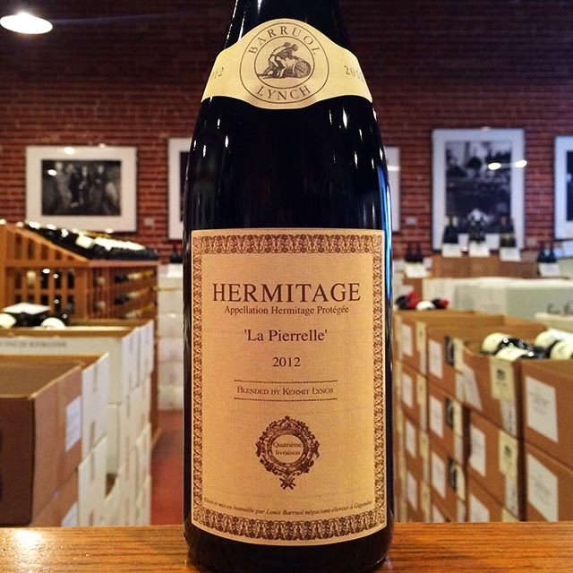 "2012 Hermitage <i>Rouge</i> ""La Pierrelle"" Barruol / Lynch - Kermit Lynch Wine Merchant"