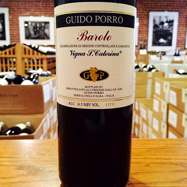 "2012 Barolo ""Vigna Santa Caterina"" Guido Porro - Kermit Lynch Wine Merchant"