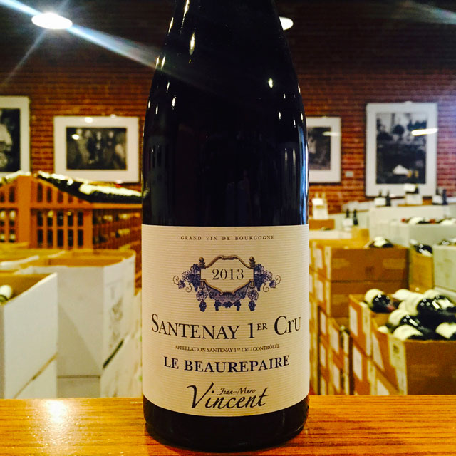 "2013 Santenay Rouge 1er Cru ""Le Beaurepaire"" Jean-Marc Vincent - Kermit Lynch Wine Merchant"